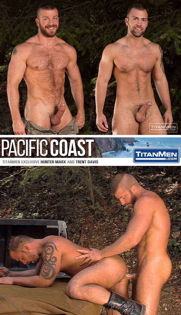 "TitanMen: Hunter Marx fucks Trent Davis in ""Pacific Coast"""