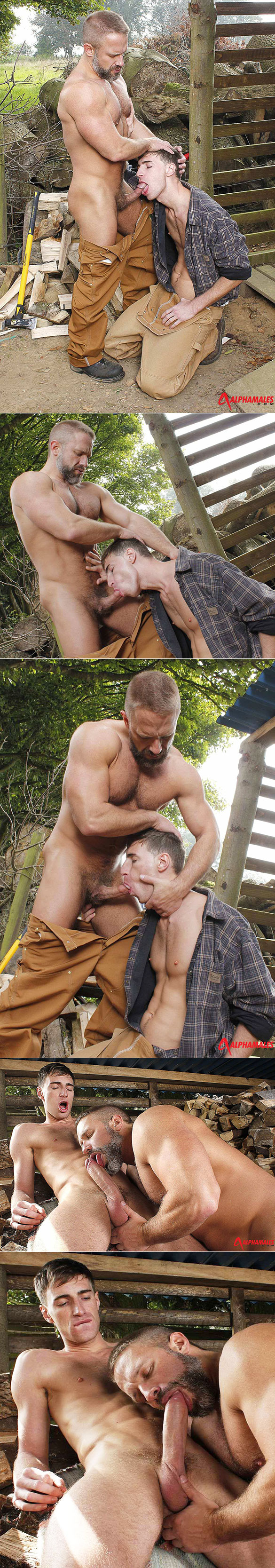 "Alphamales: Kayden Gray pounds Dirk Caber in ""Workmen - The Woodsmen"""
