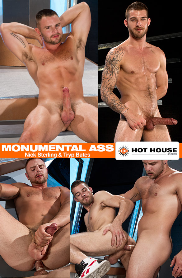 "HotHouse: Nick Sterling and Tryp Bates flip fuck in ""Monumental Ass"""