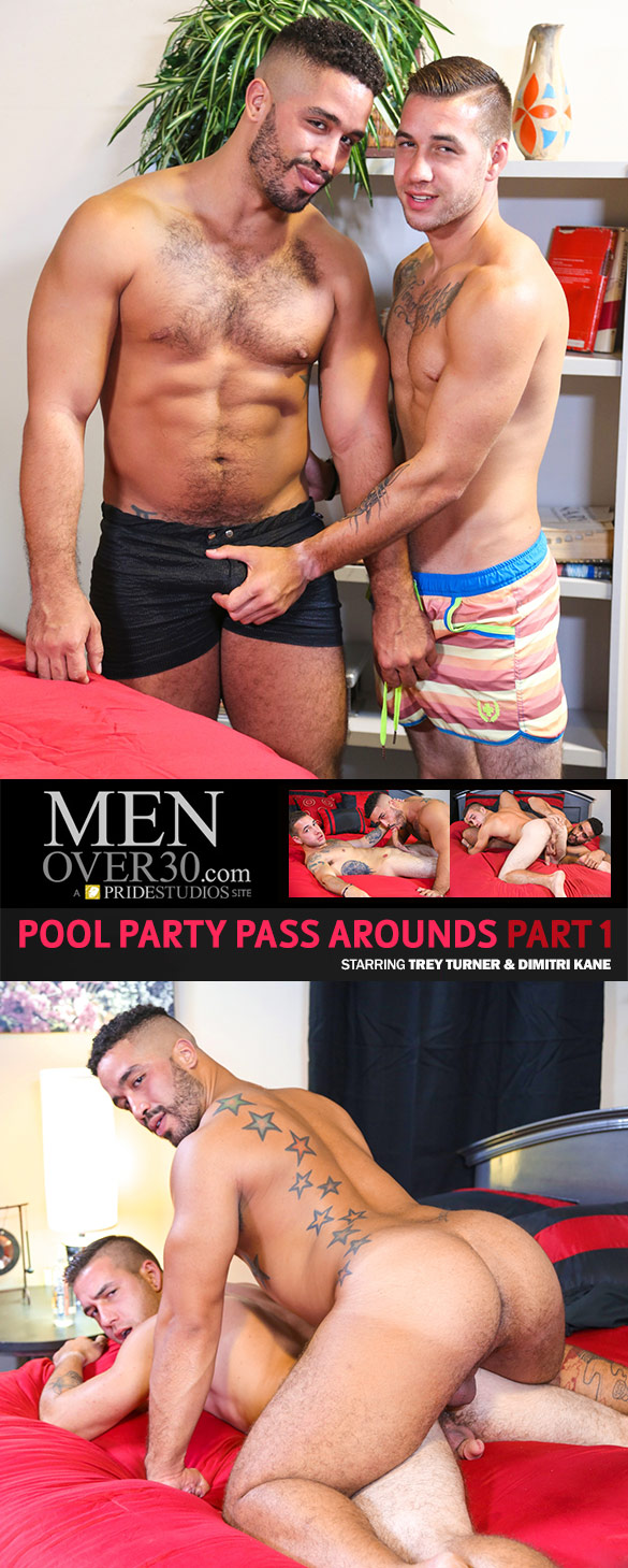 "Pride Studios: Trey Turner fucks Dimitri Kane in ""Pool Party Pass Arounds, Part 1"""