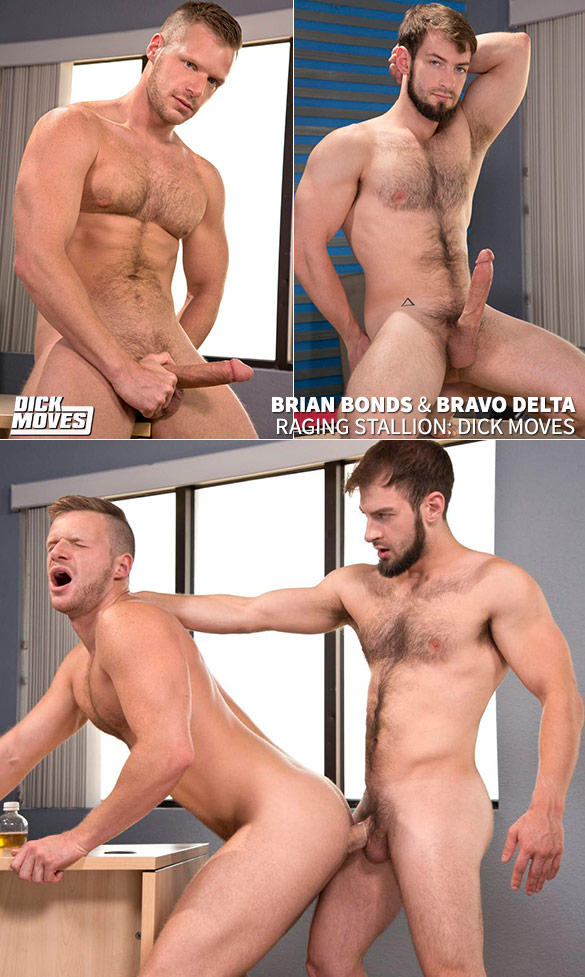 "Raging Stallion: Bravo Delta fucks Brian Bonds in ""Dick Moves"""