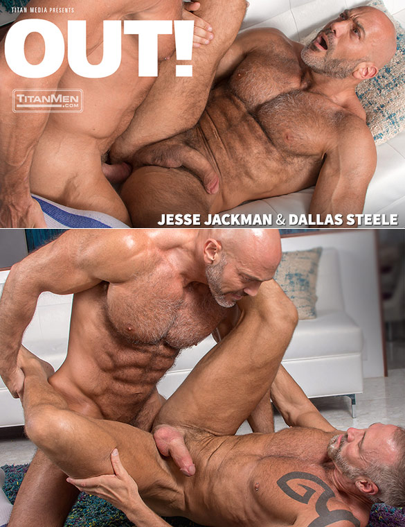 "TitanMen: Jesse Jackman and Dallas Steele pound each other in ""Out!"""