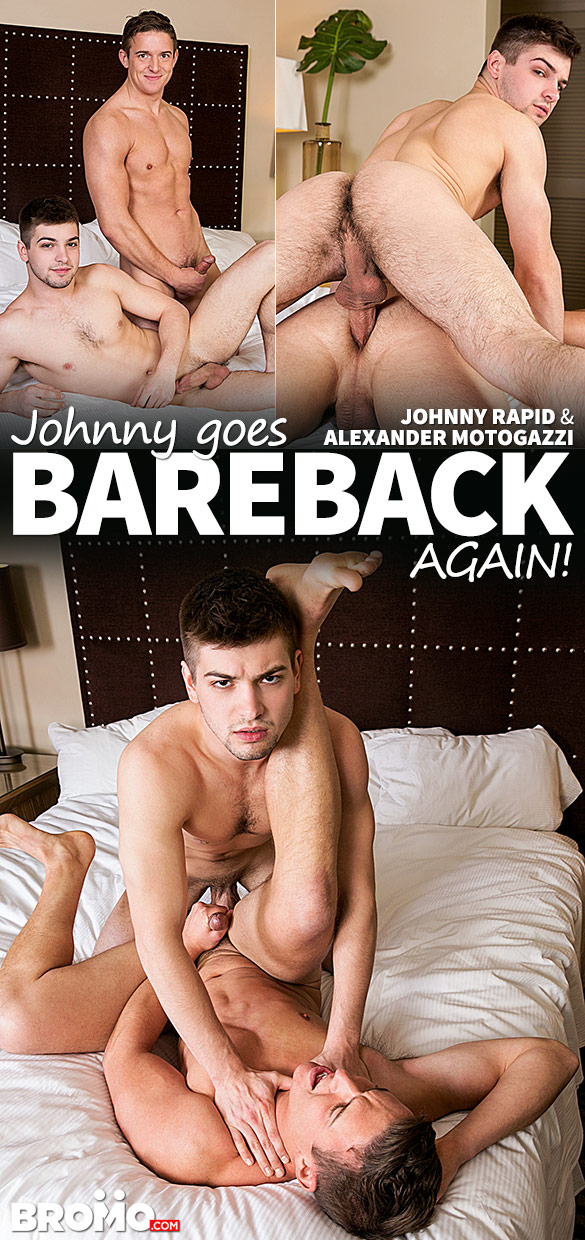 "Bromo: Johnny Rapid bangs Alexander Motogazzi in ""Johnny Goes Bareback... Again! (Part 1)"""