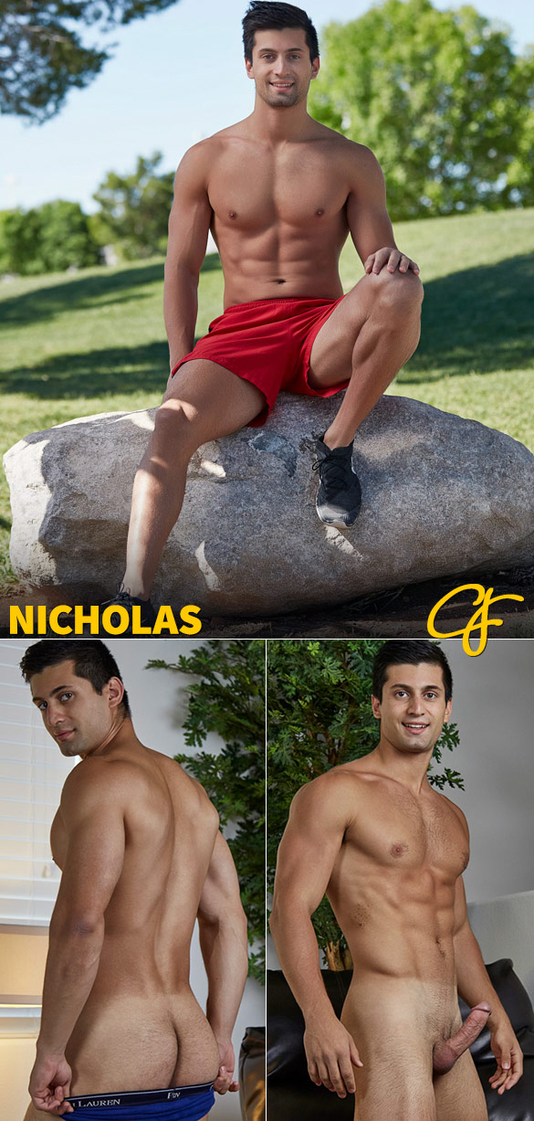 Corbin Fisher: Hot stud Nicholas busts a nut
