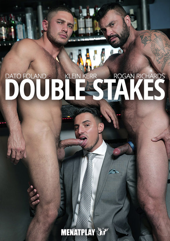 "MenAtPlay: Klein Kerr gets fucked by Dato Foland and Rogan Richards in ""Double Stakes"""