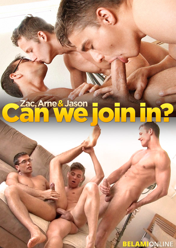 BelAmi: Jason Clark gets fucked bareback by Zac DeHaan and Arne Coen