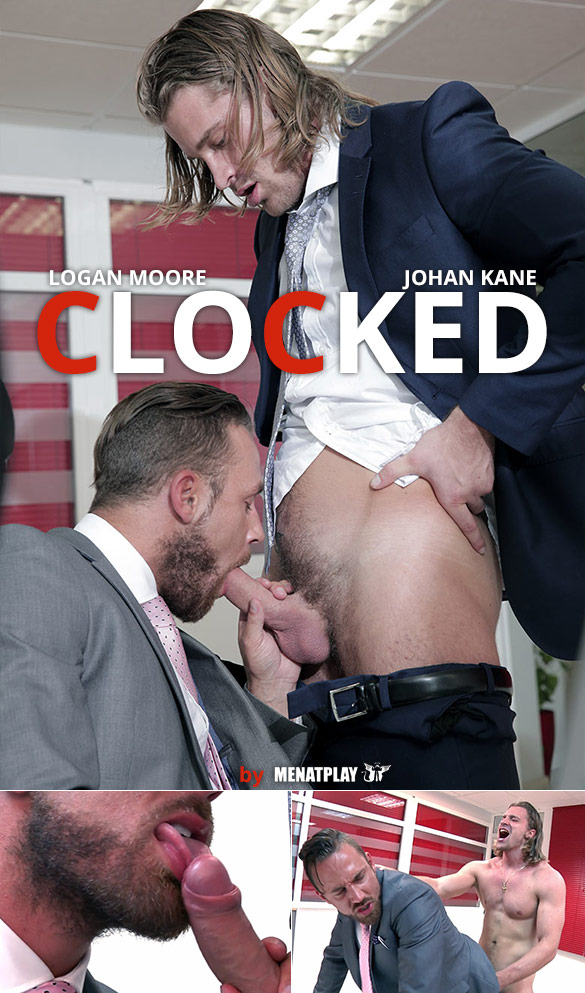 "MenAtPlay: Johan Kane fucks Logan Moore in ""Clocked"""