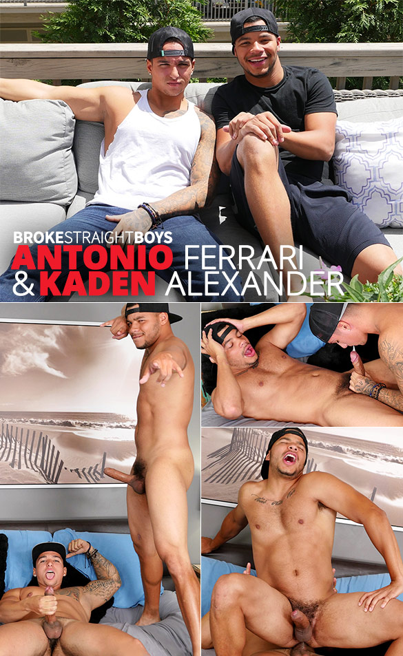 Broke Straight Boys: Antonio Ferrari fucks Kaden Alexander raw