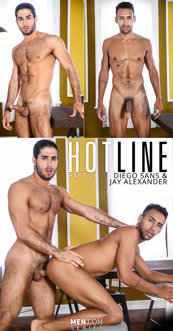 "Men.com: Diego Sans fucks Jay Alexander in ""Hotline, Part 2"""