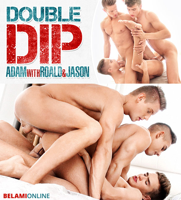 BelAmi: Newcomer Adam Torres gets double fucked by Roald Ekberg and Jason Bacall