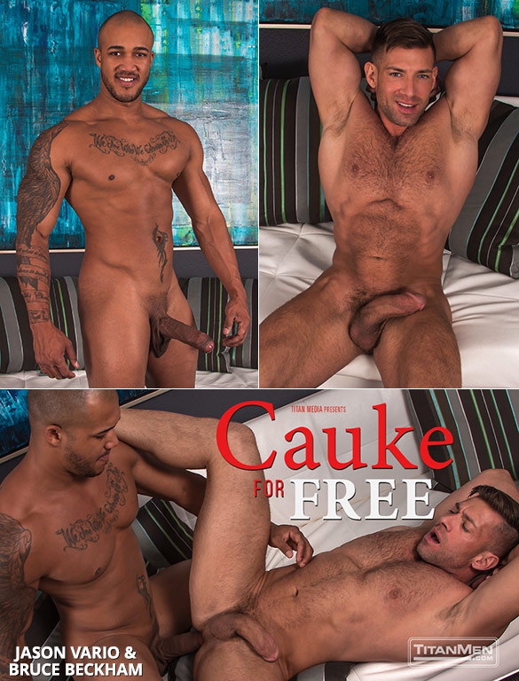 "TitanMen: Jason Vario bangs Bruce Beckham in ""Cauke for Free"""