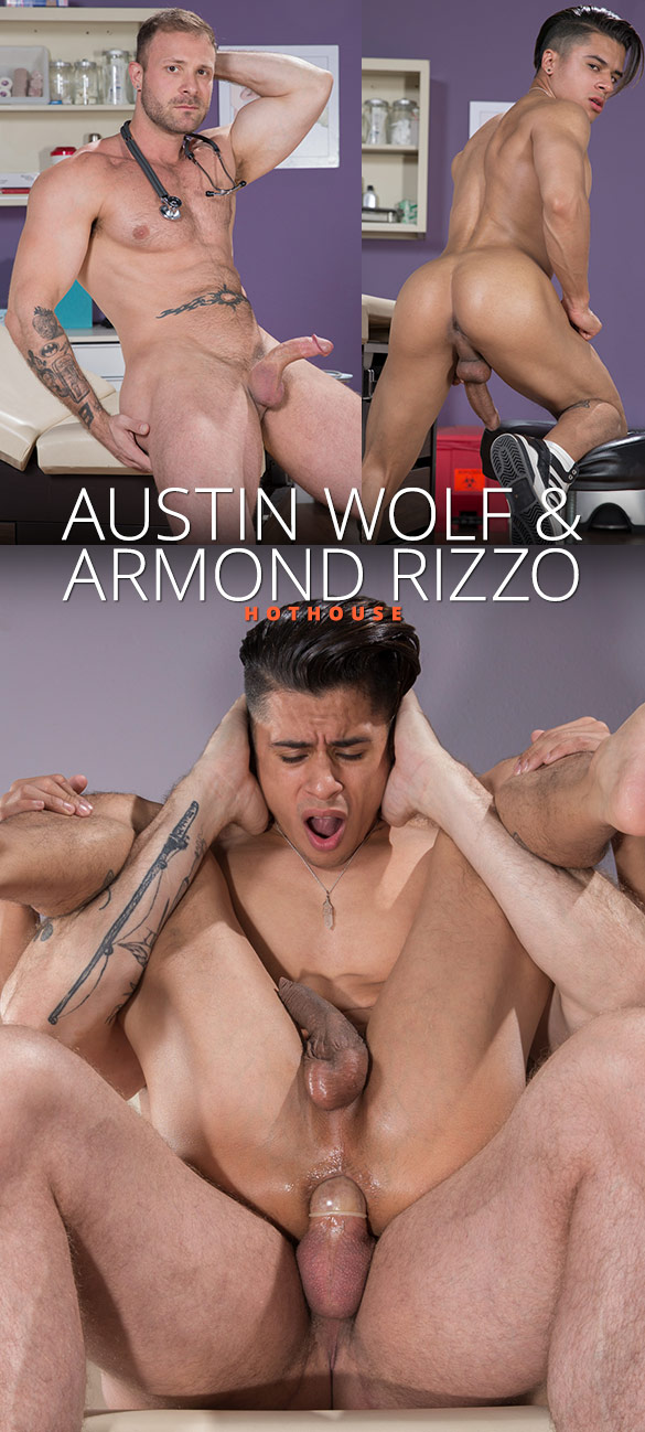 """HotHouse: Armond Rizzo gets his hole stretched by Austin Wolf in """"Internal Specialists"""""""