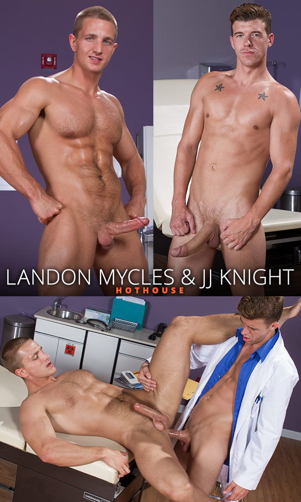 "HotHouse: Landon Mycles takes JJ Knight's enormous dick in ""Internal Specialists"""