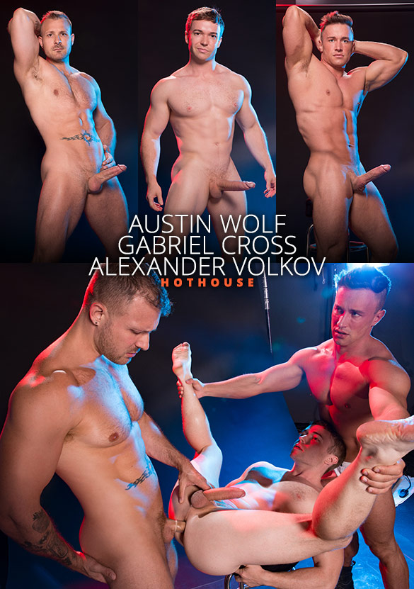 "HotHouse: Alexander Volkov, Austin Wolf and Gabriel Cross' threesome in ""Depths of Focus"""