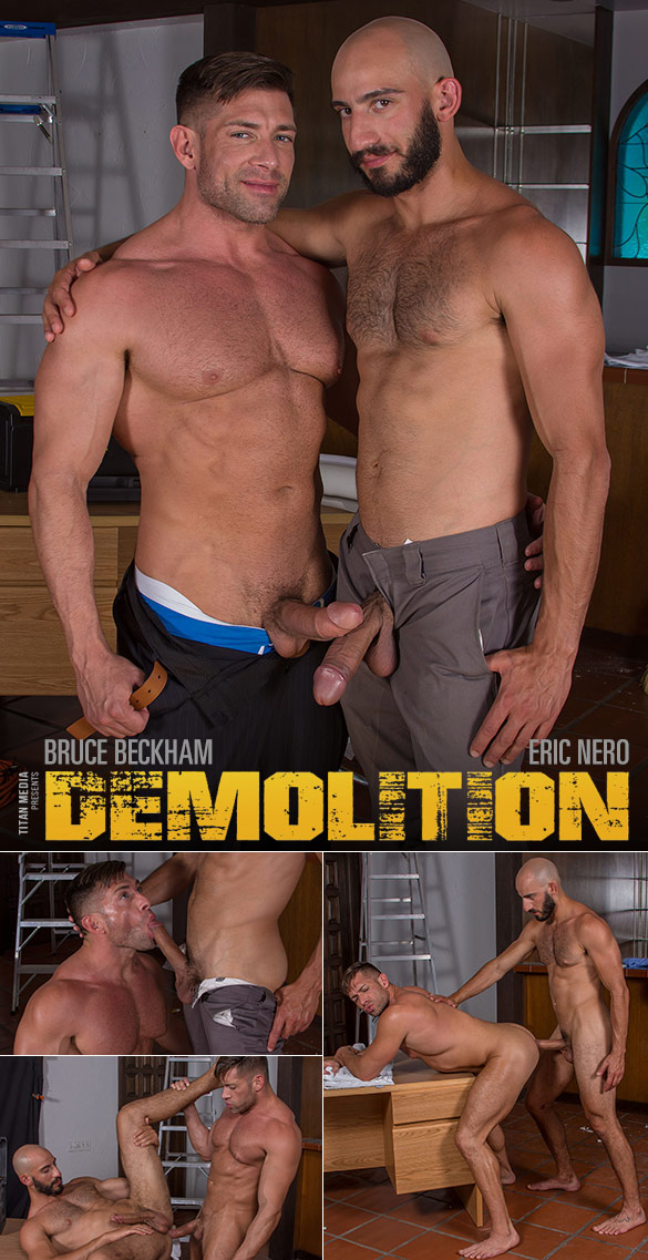 "TitanMen: Bruce Beckham and Eric Nero flip fuck in ""Demolition"""
