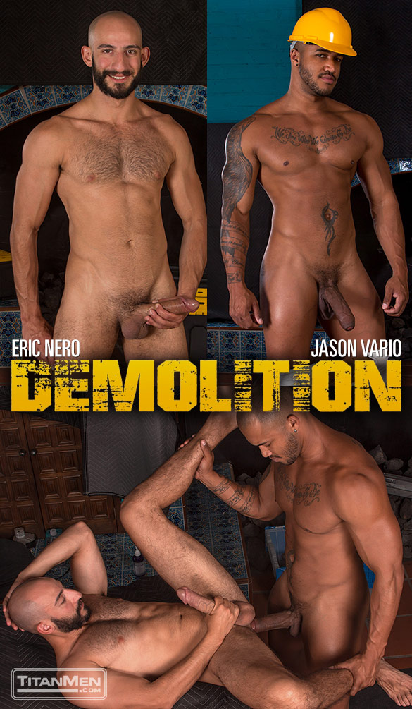 "TitanMen: Eric Nero bottoms for Jason Vario and his thick cock in ""Demolition"""