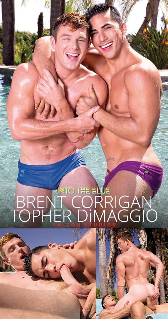 "Falcon Studios: Brent Corrigan rides Topher DiMaggio in ""Into the Blue"""