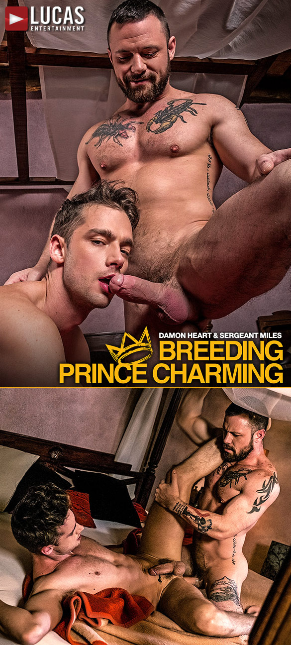 "Lucas Entertainment: Sergeant Miles and Damon Heart fuck raw in ""Breeding Prince Charming"""