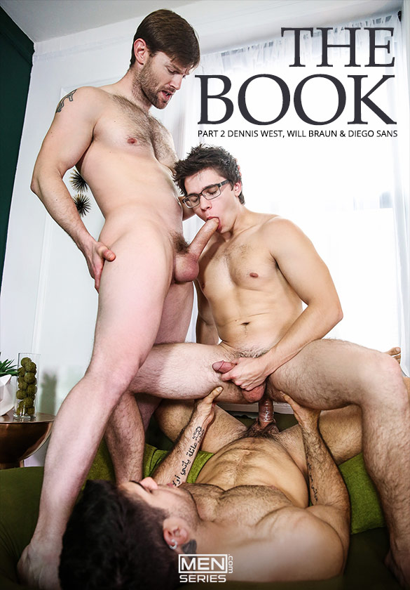 "Men.com: Diego Sans and Dennis West tag team Will Braun in ""The Book, Part 2"""