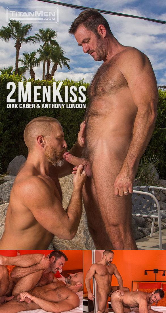 "TitanMen: Muscle daddies Dirk Caber and Anthony London flip fuck in ""2 Men Kiss"""
