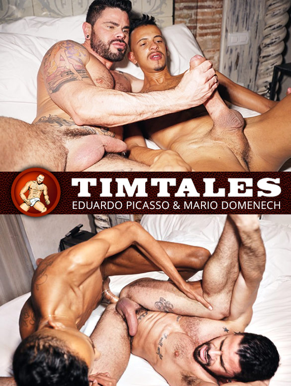 TimTales: Mario Domenech gets fucked by Eduardo Picasso and his 12-inch cock