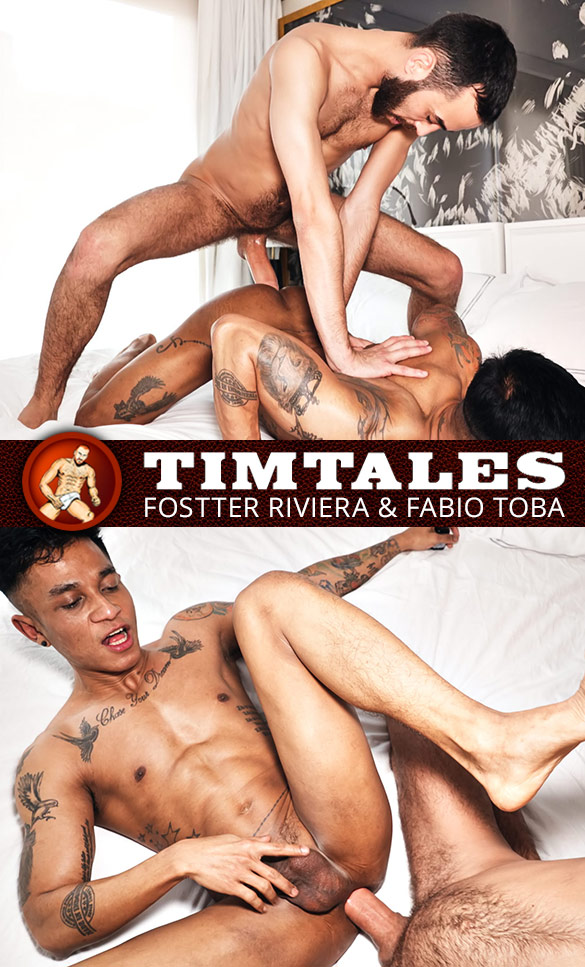 TimTales: Newcomer Fabio Toba gets his hole creamed by Fostter Riviera and his 9-inch cock