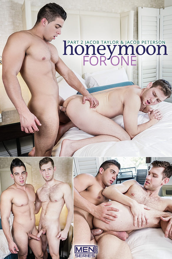 "Men.com: Jacob Taylor fucks Jacob Peterson in ""Honeymoon for One, Part 2"""