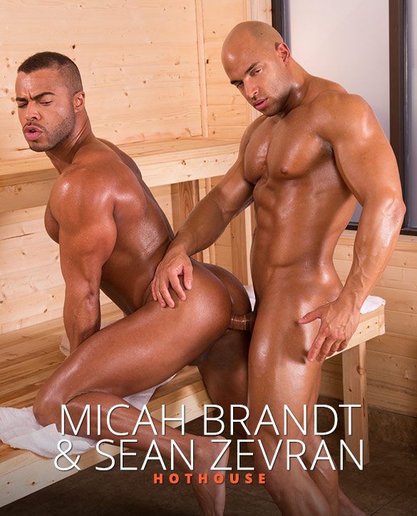 "HotHouse: Micah Brandt and Sean Zevran flip fuck in ""Bathhouse Ballers"""