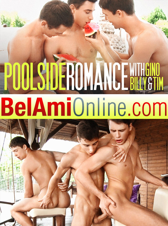 BelAmiOnline: Gino Mosca, Billy Montague and Tim Campbell fuck each other bareback