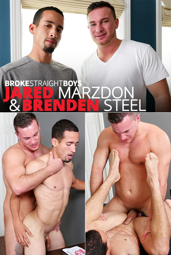 Broke Straight Boys: Brenden Steel's first gay fuck is with Jared Marzdon