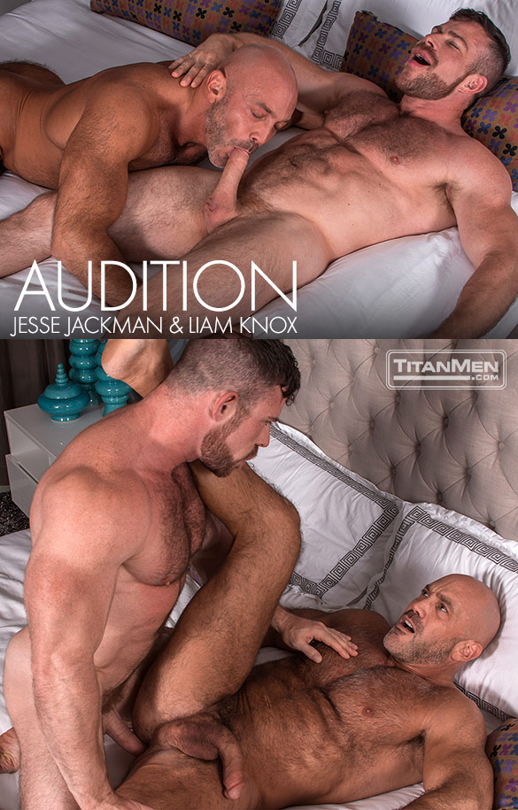 "TitanMen: Liam Knox and Jesse Jackman flip fuck in ""Audition"""