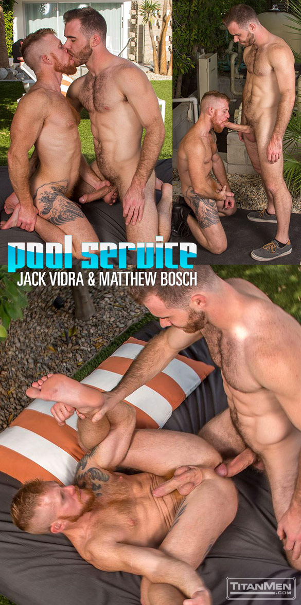 "TitanMen: Jack Vidra and Matthew Bosch flip fuck in ""Pool Service"""