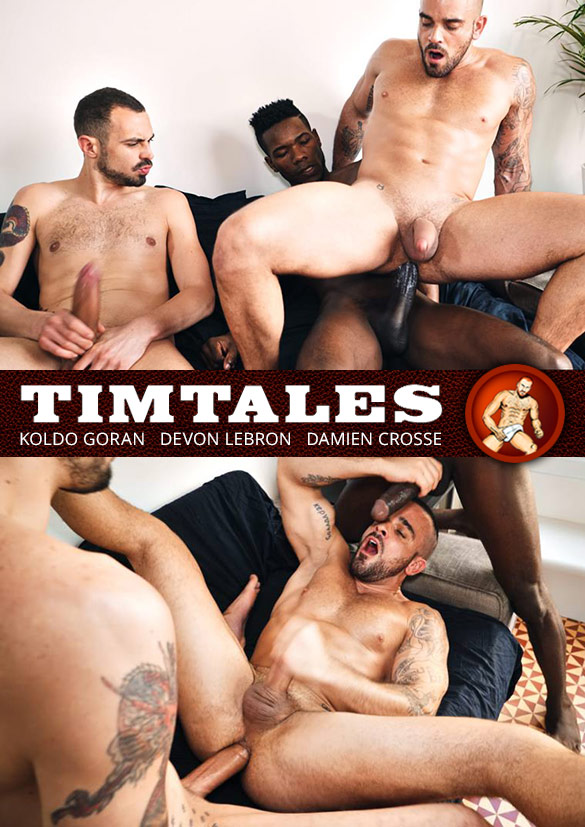 TimTales: Damien Crosse gets pounded raw by big-dicked studs Devon Lebron and Koldo Goran