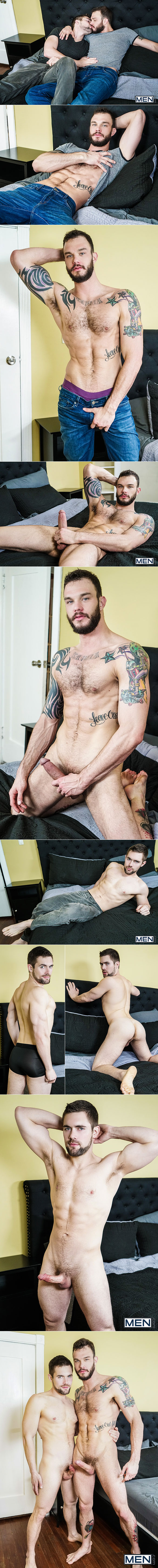 """Men.com: Griffin Barrows takes Cliff Jensen's thick cock in """"Polyamor-Ass, Part 3"""""""