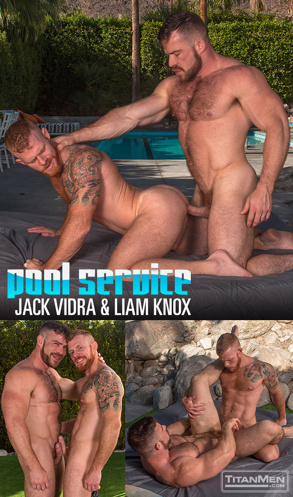 "TitanMen: Jack Vidra and Liam Knox flip fuck in ""Pool Service"""