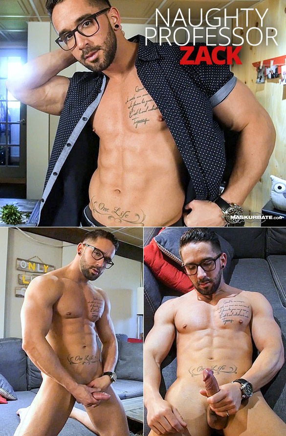 """Maskurbate: Zack rubs one out in """"Naughty Professor"""""""