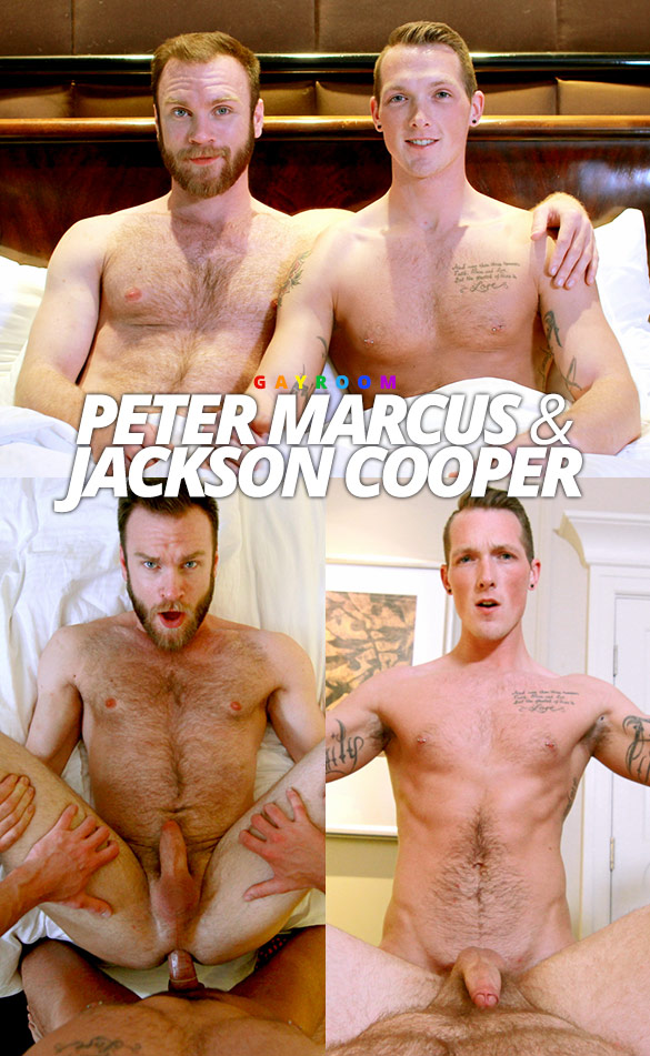 "GayRoom: Jackson Cooper tops Peter Marcus in ""Step Bros Marshmallow Fight"""