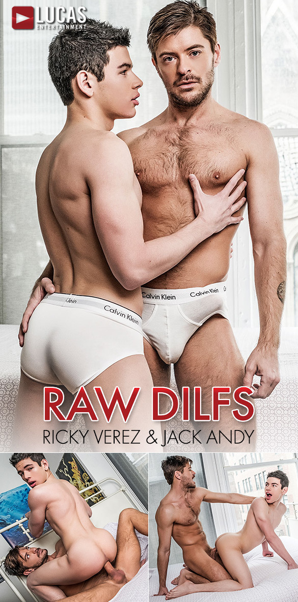 "Lucas Entertainment: Ricky Verez rides Jack Andy's big dick ""Raw DILFs"""