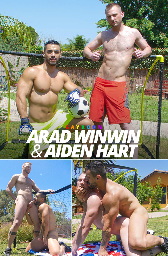 "GayRoom: Arad Winwin bangs Aiden Hart in ""Score!"""