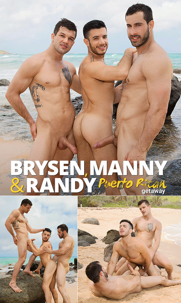 "Sean Cody: Brysen and Randy tag team Manny bareback in ""Puerto Rican Getaway, Day 2"""