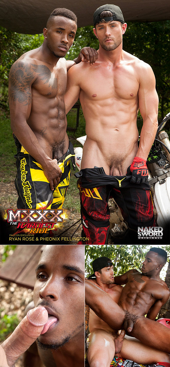 "NakedSword Originals: Ryan Rose bangs Pheonix Fellington in ""MXXX - The Hardest Ride, Ep. 2: Layin' It Down"""