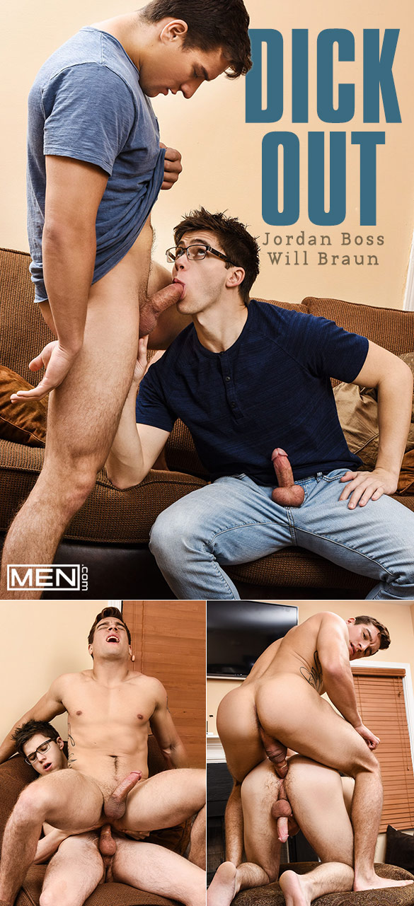 "Men.com: Jordan Boss and Will Braun flip fuck in ""Dick Out"""