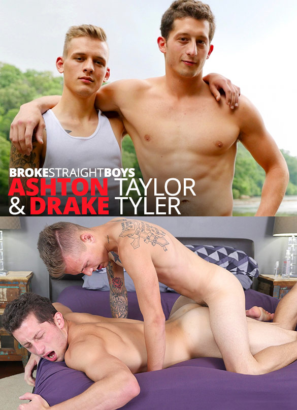 Broke Straight Boys: Ashton Taylor barebacks Drake Tyler
