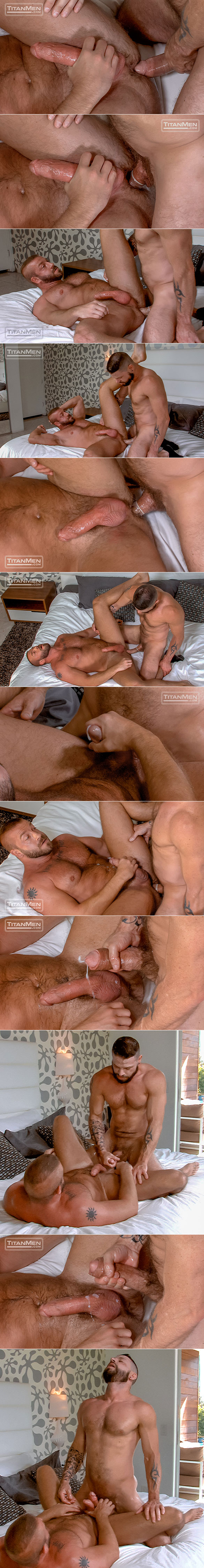"TitanMen: Muscle daddy Hunter Marx bottoms for big-dicked Tex Davidson in ""Swap"""