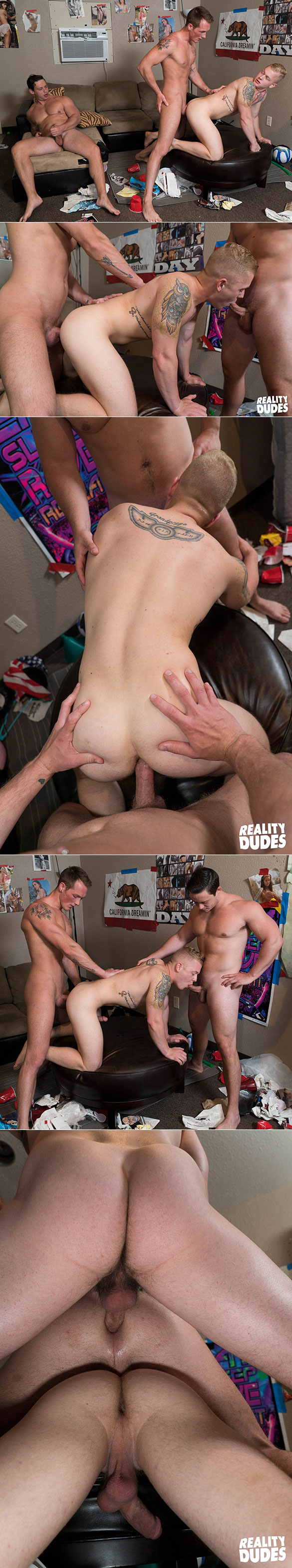 """Reality Dudes: Tobias, Jackson Cooper and Leo Luckett's raw threeway in """"Double Stacked"""""""