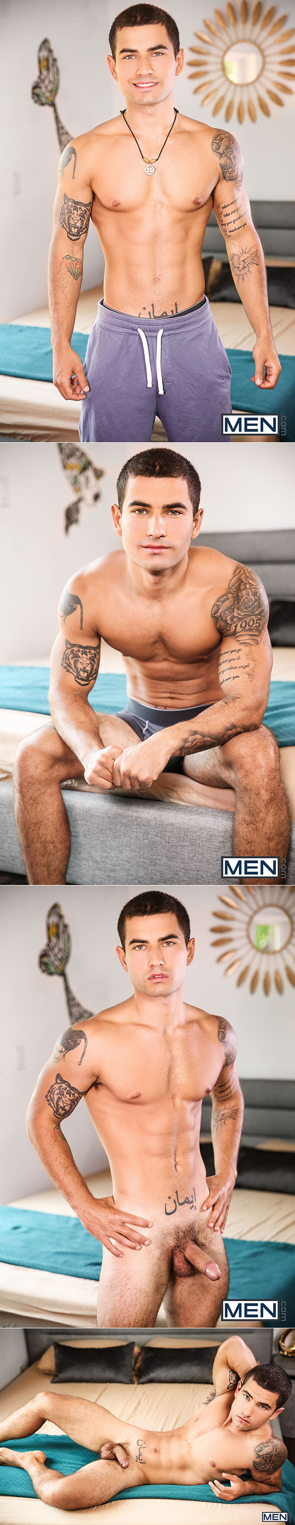 "Men.com: Tobias bottoms for Todd and Vadim Black in ""Alarm Cock"""