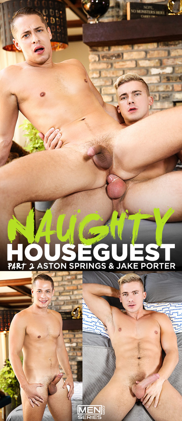 "Men.com: Jake Porter fucks Aston Springs in ""Naughty Houseguest, Part 2"""