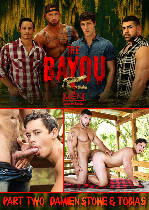 """Men.com: Muscle hunk Damien Stone fucks Tobias' beefy ass in """"The Bayou, Part 2"""""""