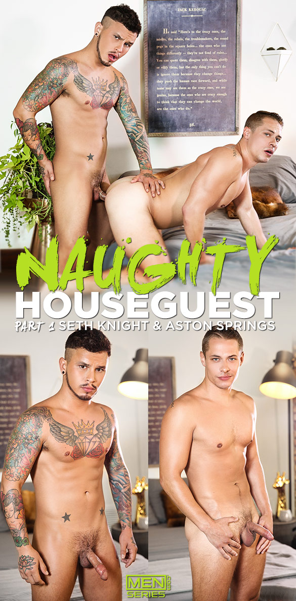 "Men.com: Seth Knight tops Aston Springs in ""Naughty Houseguest, Part 1"""