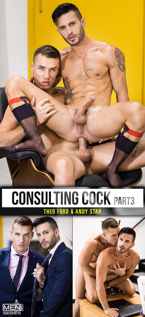 "Men.com: Theo Ford fucks Andy Star in ""Consulting Cock, Part 3"""